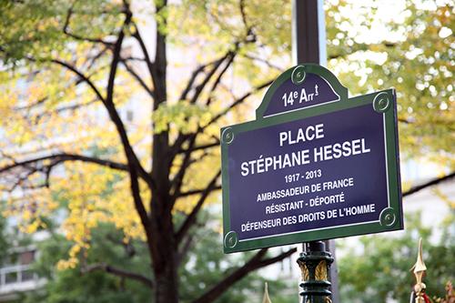 Inauguration de la place Stéphane Hessel à Paris le 21 octobre