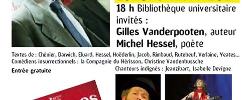 Lundi 9 mars 2015 : Hommage à Stéphane Hessel au Printemps des poètes – Dunkerque